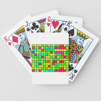 Retro Disco Colorful Squares Bicycle Playing Cards