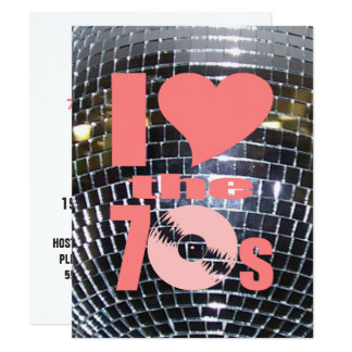 Retro Disco Dance Party | 70's Party Vinyl Record Card