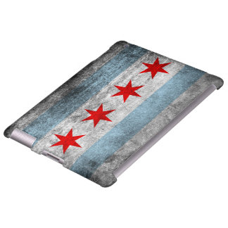 Retro Distressed Chicago Flag
