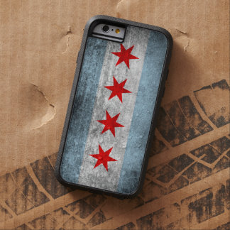 Retro Distressed Chicago Flag Tough Xtreme iPhone 6 Case
