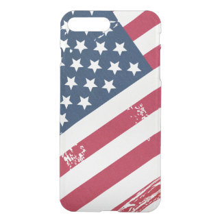 Retro Distressed Grunge American Flag Old Look iPhone 7 Plus Case