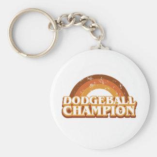 Retro Dodgeball Champion Keychain