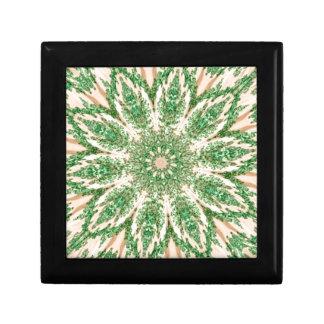 Retro Doily Green Beige Kaleidoscope Jewelry Box