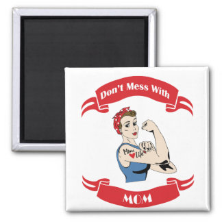 Retro Don't Mess with MOM Magnet