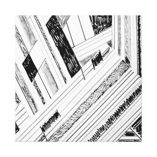 Retro Doodle Design Wrapped Canvas Print