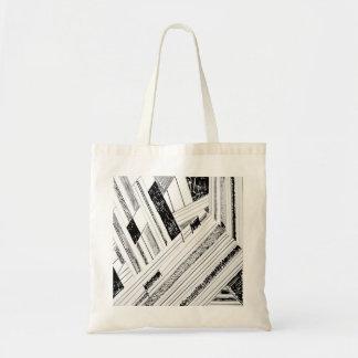 Retro Doodle Print Tote Bag