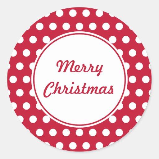 Retro Dot Christmas Stickers