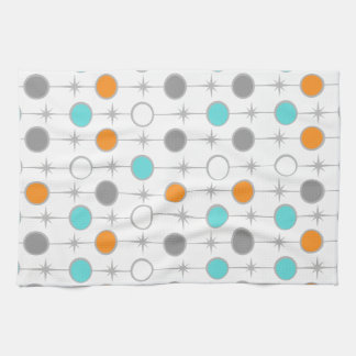 Retro Dots and Starbursts Kitchen Towel