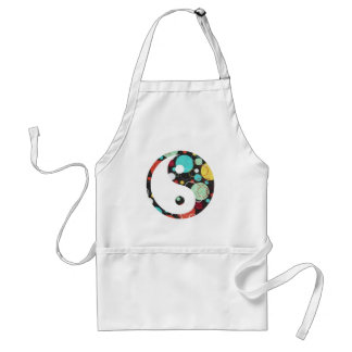 Retro Dots Yin and Yang Standard Apron