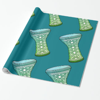 Retro Doumbek  Belly Dance Wrapping Paper