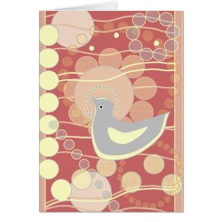 Retro Dream Bird Note Card