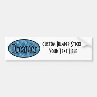 Retro Dreamer Star Logo - Blue Car Bumper Sticker