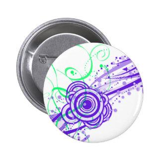 Retro Dreams II Circles and Swirls 6 Cm Round Badge