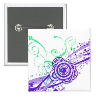Retro Dreams II Circles and Swirls 15 Cm Square Badge