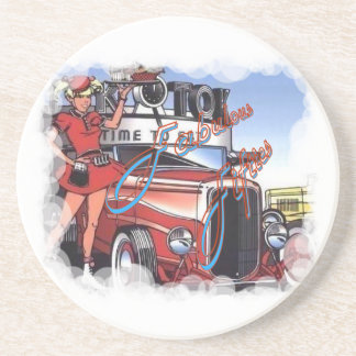 Retro Drive Inn Coaster