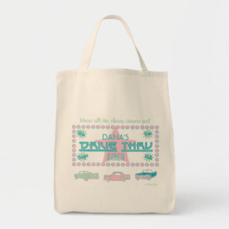 Retro Drive-Thru Diner (pink) Tote Bag