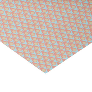 "Retro Droplet Tissue Paper in Coral and Aqua 10"" X 15"" Tissue Paper"