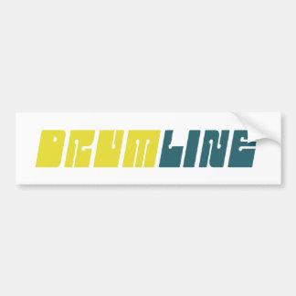 Retro Drumline Bumper Sticker