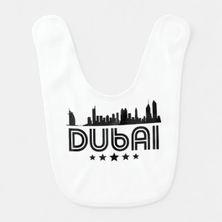Retro Dubai Skyline Bib