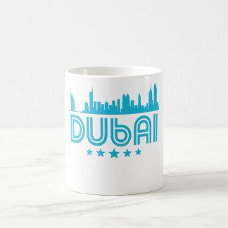 Retro Dubai Skyline Coffee Mug