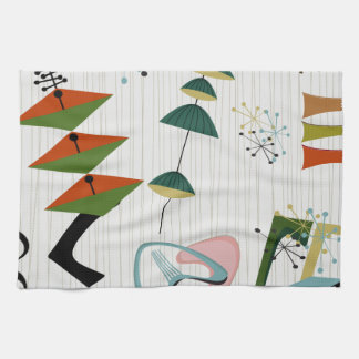 Retro Eames-Era Atomic Inspired Tea Towel