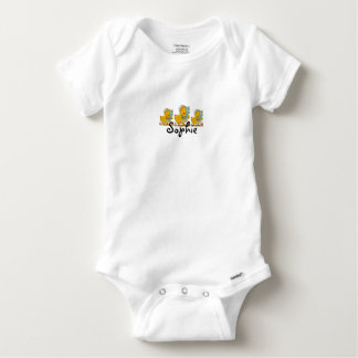 Retro Easter Ducks Personnalised Baby Onesie