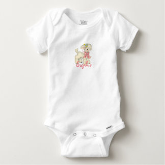 Retro Easter Lamb Personnalised Baby Onesie