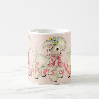 Retro Easter Lamb Personnalised Coffee Mug