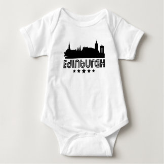 Retro Edinburgh Skyline Baby Bodysuit