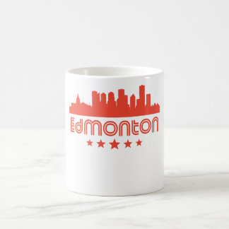 Retro Edmonton Skyline Coffee Mug