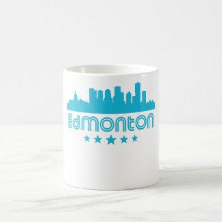Retro Edmonton Skyline Coffee Mug