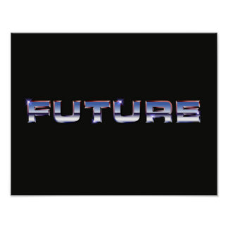 Retro Eighties Future Text Poster Print