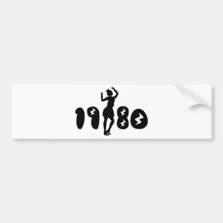 Retro Eighties Woman Bumper Sticker
