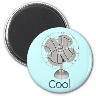 Retro Electric Fan 6 Cm Round Magnet