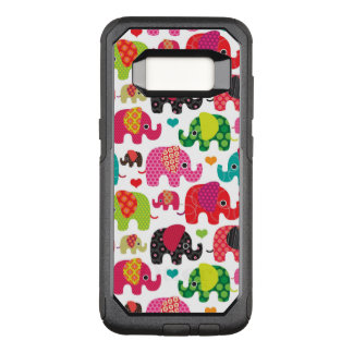retro elephant kids pattern wallpaper OtterBox commuter samsung galaxy s8 case