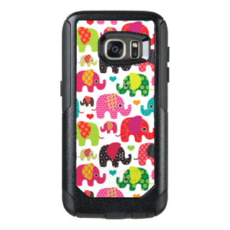retro elephant kids pattern wallpaper OtterBox samsung galaxy s7 case