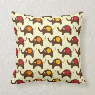 Retro Elephants and Stripes MOJO Pillow Cushions