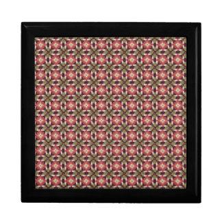 Retro embroidery large square gift box
