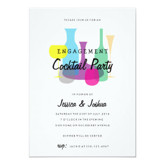 Retro Engagement Party | Cocktail Party Invitation
