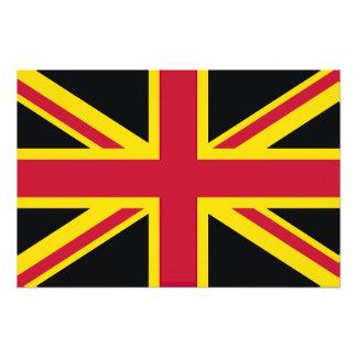 Retro England Flag Black Red Yellow Photo