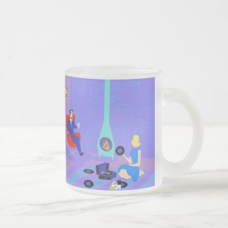 Retro Evening at Home Frosted Glass Mug
