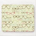 Retro Eyeglass Hipster Mousepads