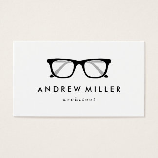 Retro Eyeglasses Stylish Wayfarers Business Card