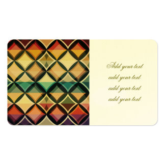 Retro,fall leaf colors,vintage,trendy,pattern,cube Double-Sided standard business cards (Pack of 100)