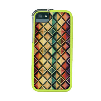 Retro,fall leaf colors,vintage,trendy,pattern,cube case for iPhone 5/5S