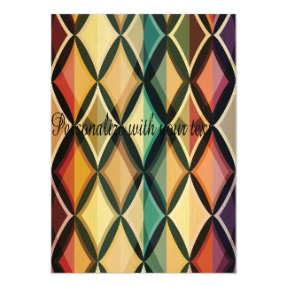 Retro,fall leaf colors,vintage,trendy,pattern,cube magnetic invitations