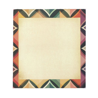 Retro,fall leaf colors,vintage,trendy,pattern,cube memo note pads