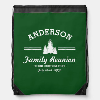 Retro Family Reunion or Trip | Rustic Pine Trees Backpack