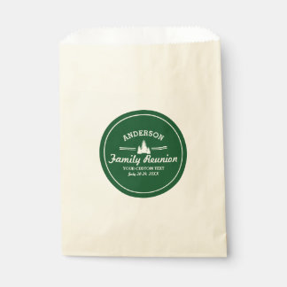 Retro Family Reunion or Trip | Rustic Pine Trees Favour Bags