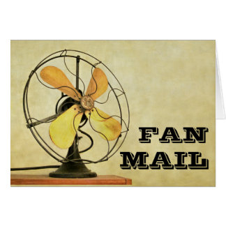 Retro Fan Mail Note Card